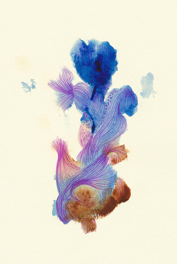Fish Drawing - Goldfish- #ss14dw031 by Satomi Sugimoto