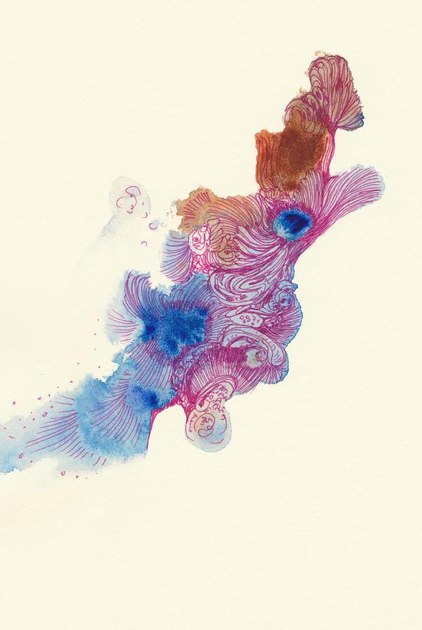 Fish Drawing - Goldfish- #ss14dw034 by Satomi Sugimoto