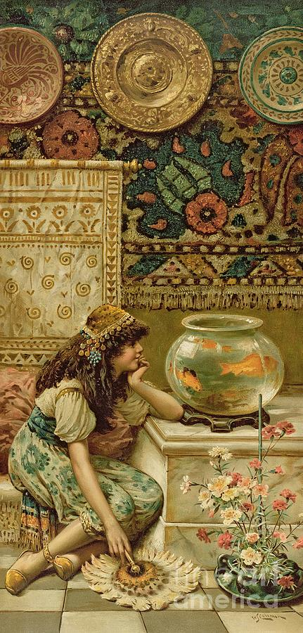 Goldfish Painting - Goldfish by William Stephen Coleman