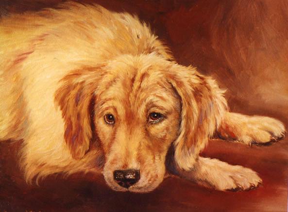 Goldie Painting by Oksana Zotkina
