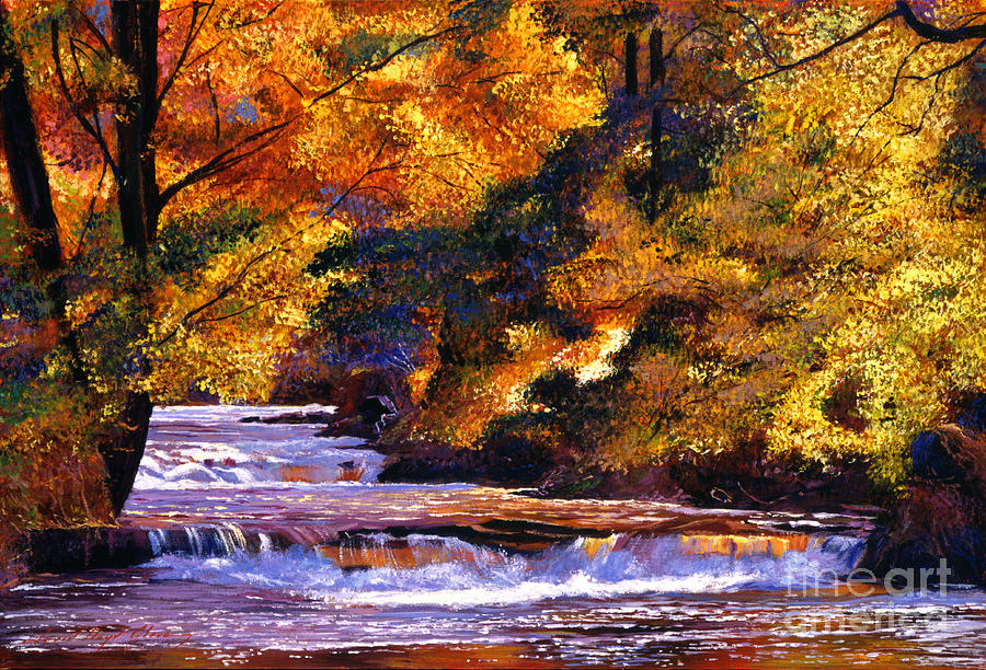 Autumn Painting - Goldstream River by David Lloyd Glover