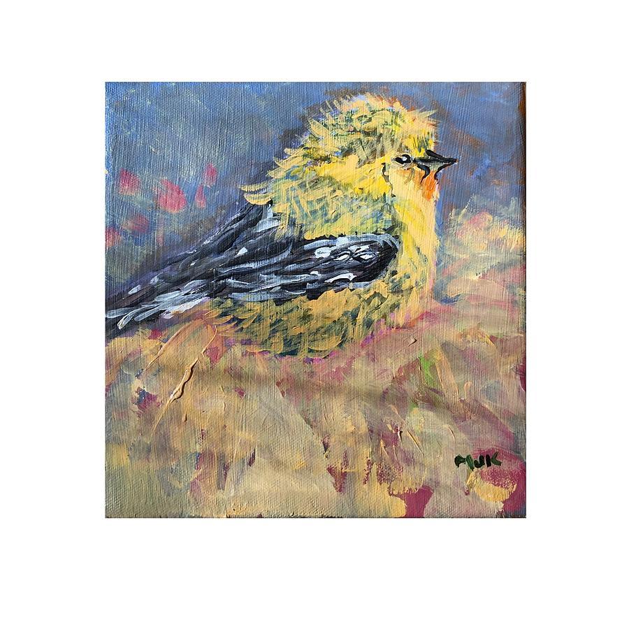 Bird Digital Art - Goldy by Mary Jo Hopton