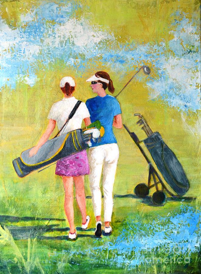 Golf Painting - Golf Buddies #1 by Betty M M Wong