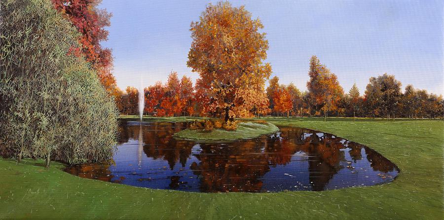 Golf Course Painting - Golf  Cherasco by Guido Borelli