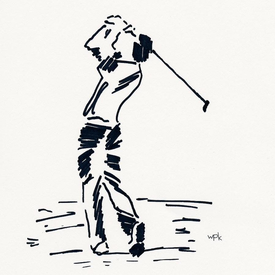 Golfer Drawing - Golf I by Winifred Kumpf
