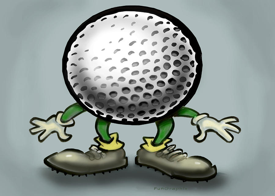 Golf Greeting Card - Golf by Kevin Middleton