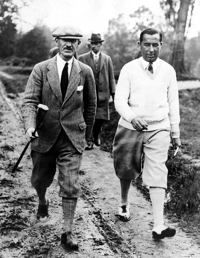 1920s Photograph - Golfers Abe Mitchell Walter Hagen by Everett