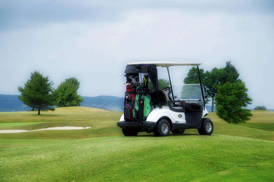 Tully New York Photograph - Golfing Golf Cart 03 by Thomas Woolworth