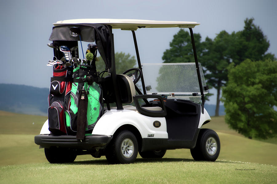 Tully New York Photograph - Golfing Golf Cart 05 by Thomas Woolworth