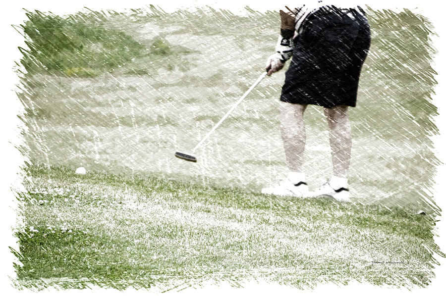 New York Photograph - Golfing Putting The Ball 01 Pa by Thomas Woolworth