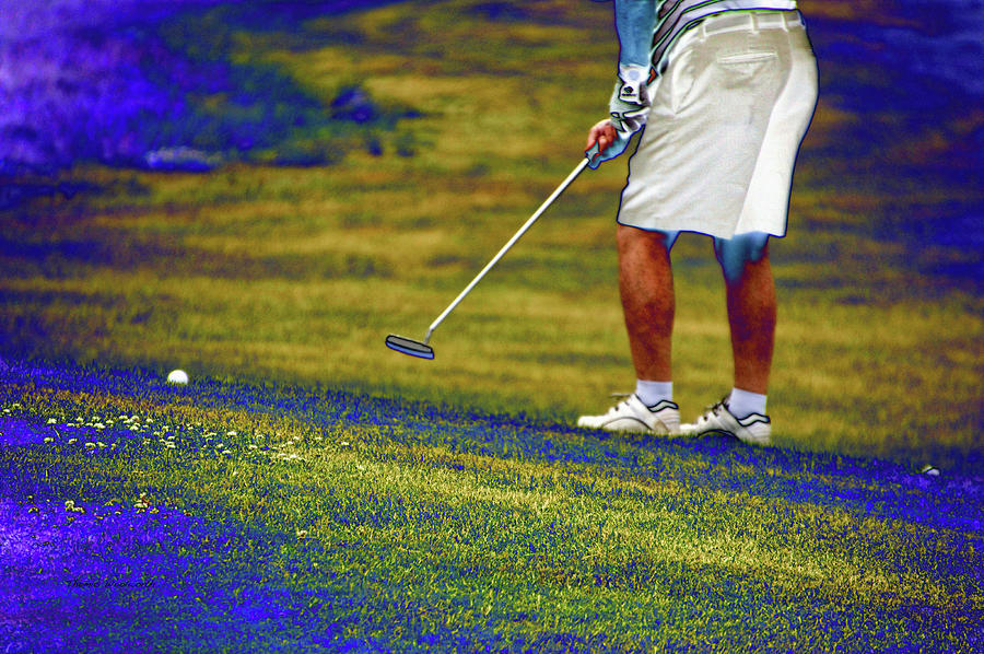 New York Photograph - Golfing Putting The Ball 02 Pa by Thomas Woolworth