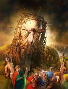 Golgotha Painting - Golgotha by Andre Martins de Barros
