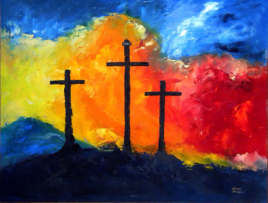 Golgotha Painting - Golgotha by David McGhee