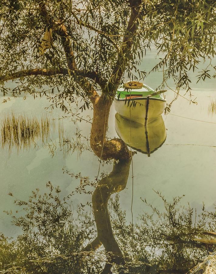 Golyazi, Turkey - Reflection and Rowboat by Mark Forte