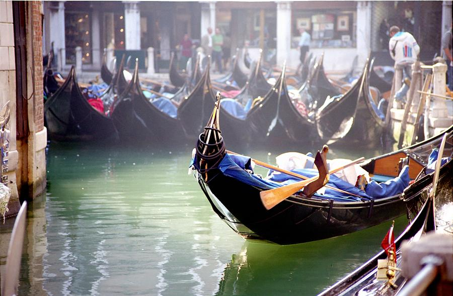 Venice Photograph - Gondola In Venice In The Morning by Michael Henderson