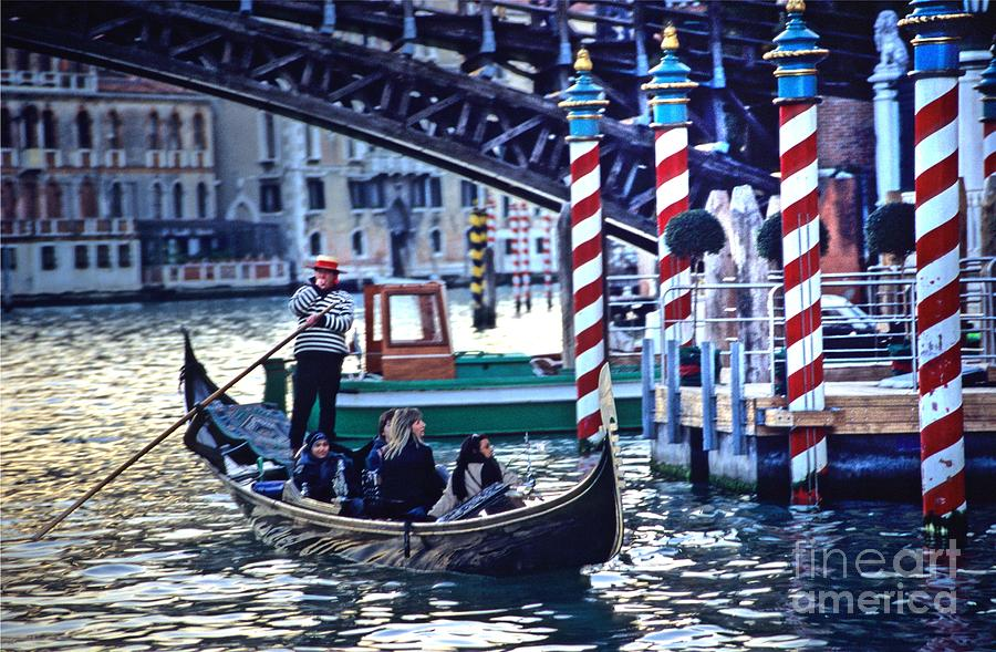 Venice Photograph - Gondola In Venice On Grand Canal by Michael Henderson