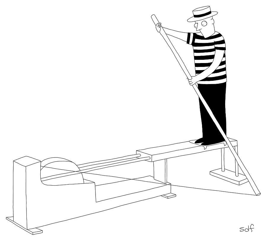 Gondola Machine Drawing by Seth Fleishman