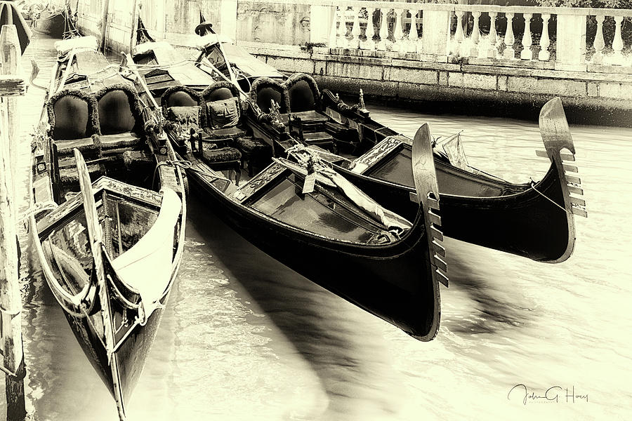 Canon Photograph - Gondola Parking Only  by John Hoey