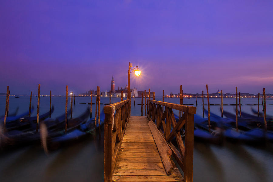 Gondolas At Dawn Photograph