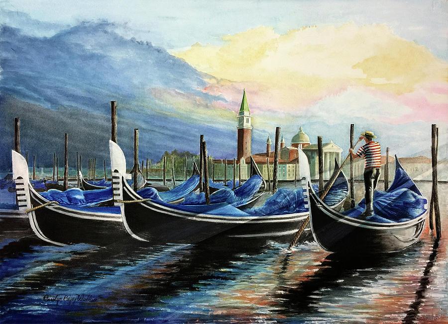 Gondolas at Dawn by Carolyn Coffey Wallace
