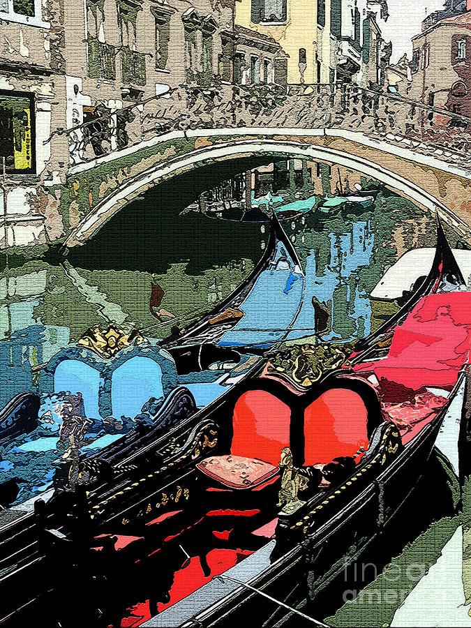 Gondola Photograph - Gondolas Fresco  by Mindy Newman
