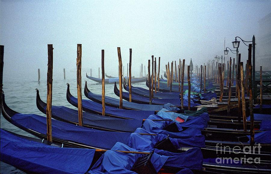 Venice Photograph - Gondolas In Venice In The Morning by Michael Henderson
