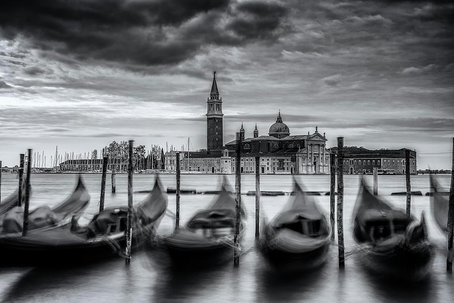 Gondolas Of Venice Photograph