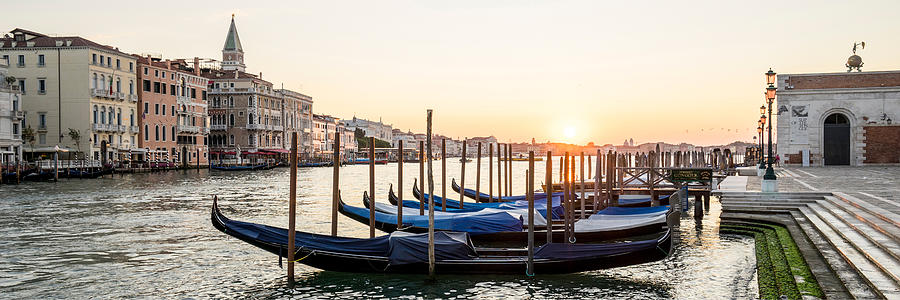Gondolas Sunrise 00323 by Marco Missiaja