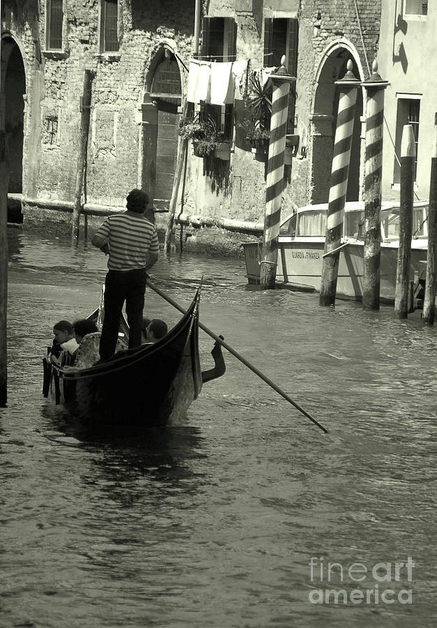 Gondolier in Venice   by Frank Stallone