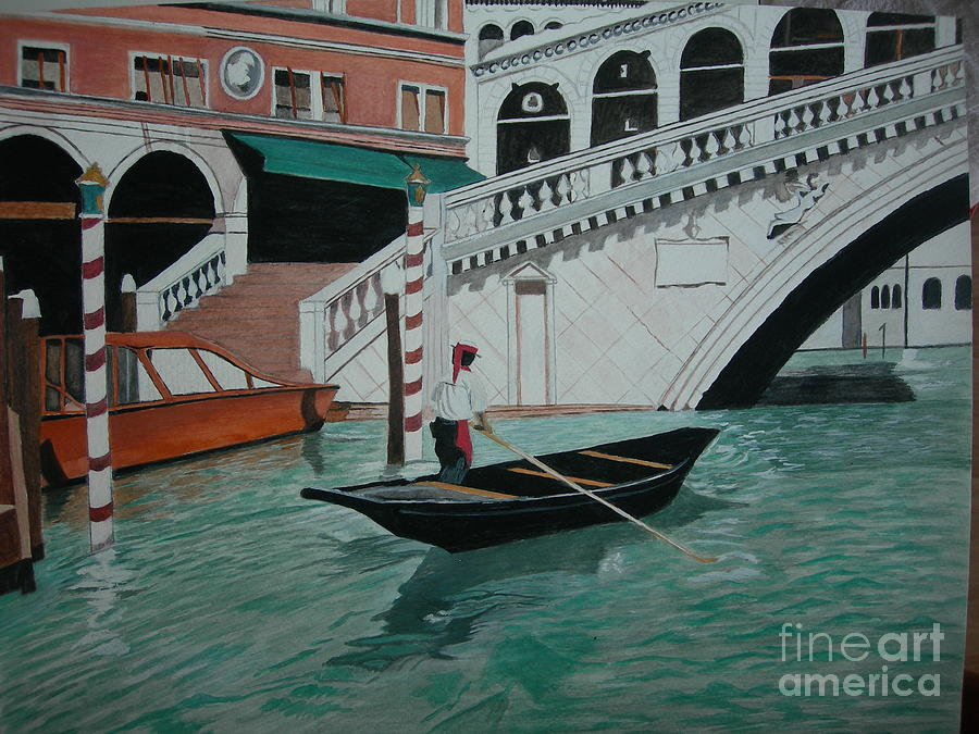 Gondolier Of Venice Painting by Palma Poochigian