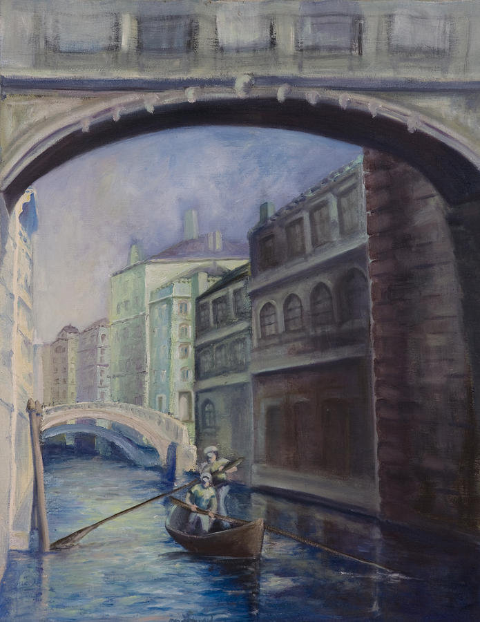 Venice Painting - Gondoliers by Victoria  Shea