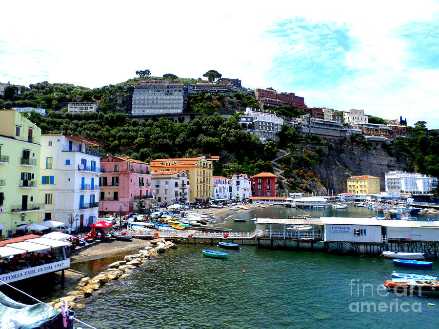 Sorrento Photograph - Gone Fishing In Sorrento by Kristie Rocca
