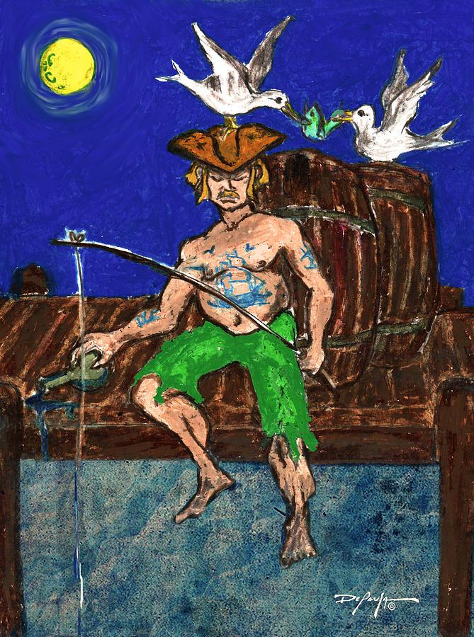 Fishing Pastel - Gone Fishing by William Depaula