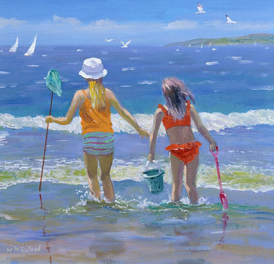 Beaches Painting - Gone Fishing  by William Ireland