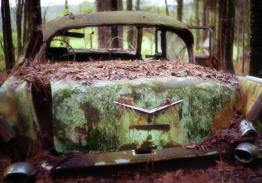 Gone Girl Old Car Image Art by Jo Ann Tomaselli
