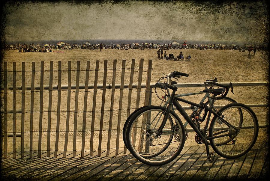 Bicycle Photograph - Gone Swimming by Evelina Kremsdorf