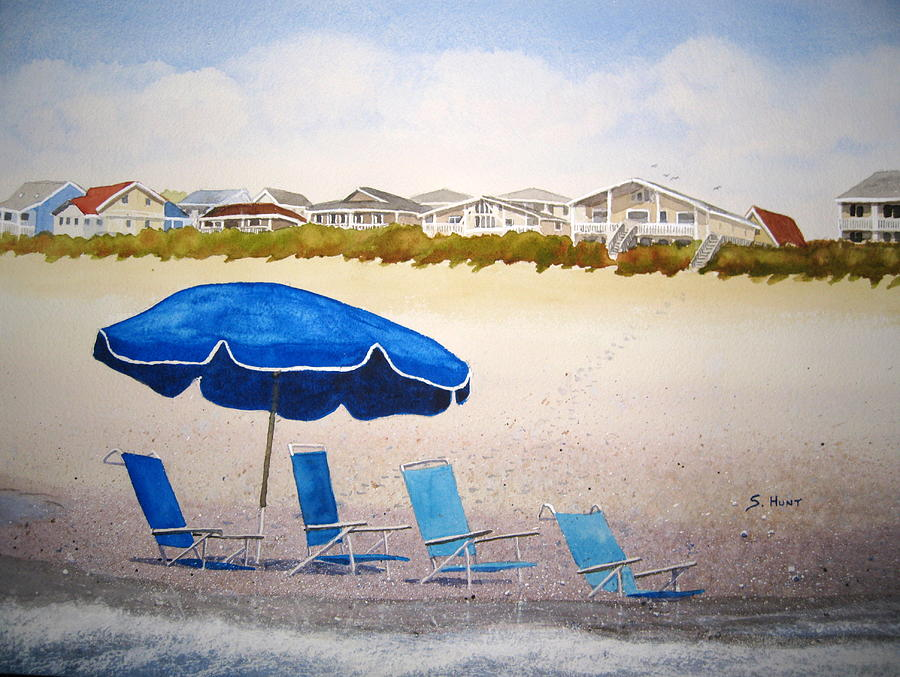 Beach Painting - Gone To Lunch by Shirley Braithwaite Hunt