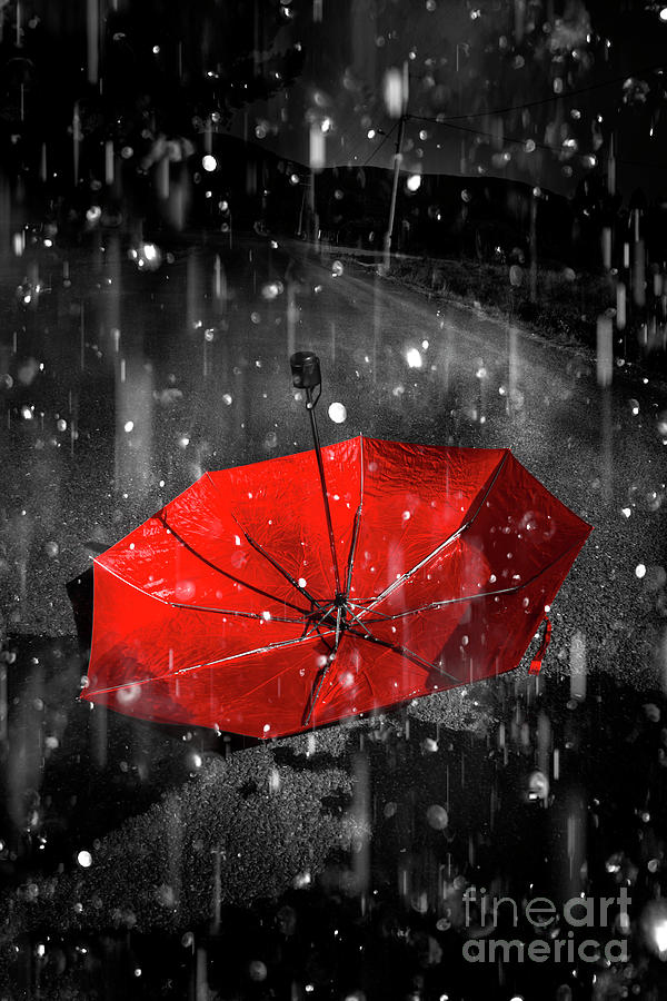 Red Digital Art - Gone With The Rain by Jorgo Photography - Wall Art Gallery