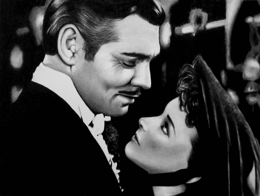 Gone With The Wind Drawing - Gone With The Wind by Rick Fortson