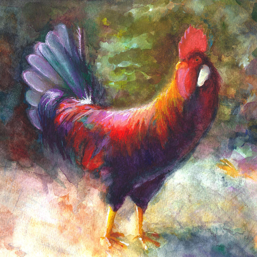 Rooster Painting - Gonzalez The Rooster by Talya Johnson