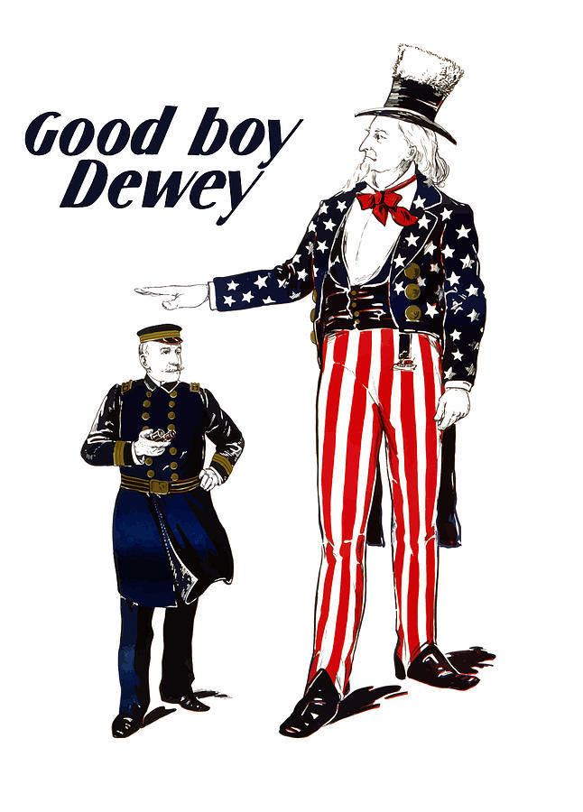 Uncle Sam Painting - Good Boy Dewey by War Is Hell Store