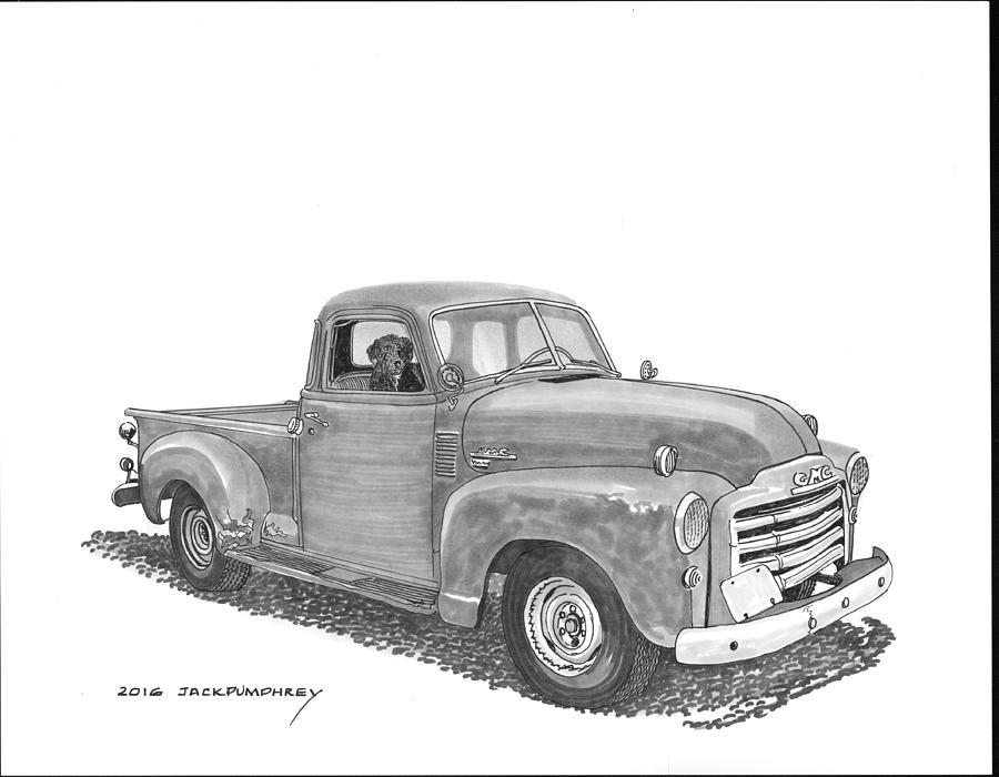 Pick Up Trucks Drawing - Good Buddies by Jack Pumphrey