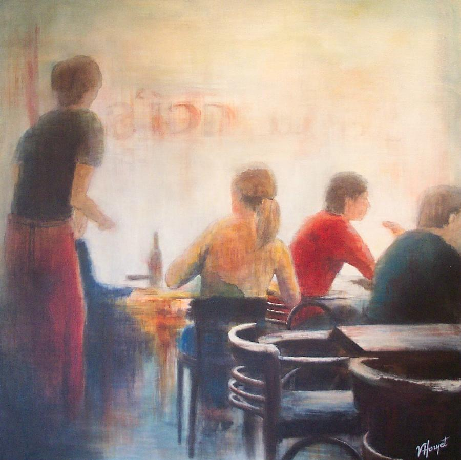 Restaurant Painting - Good Company by Victoria Heryet