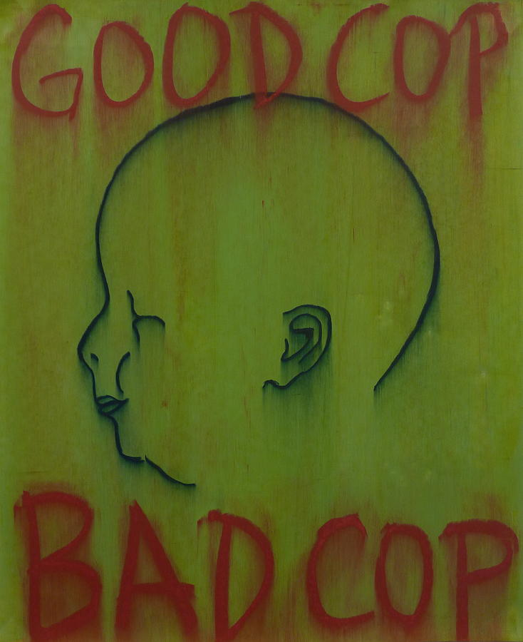 Baby Painting - Good Cop/bad Cop by Steve Briscoe