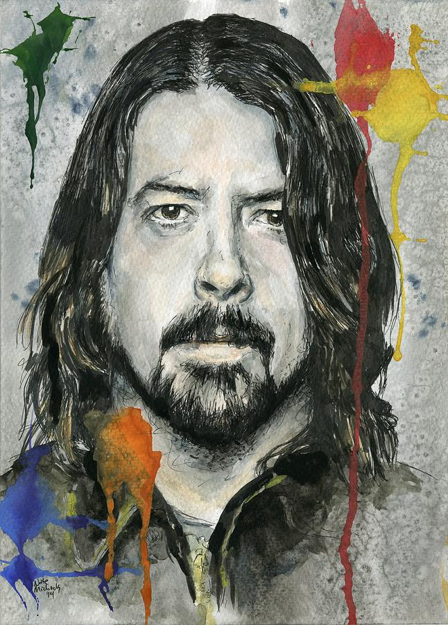 Dave Grohl Painting - Good Dave by Nate Michaels