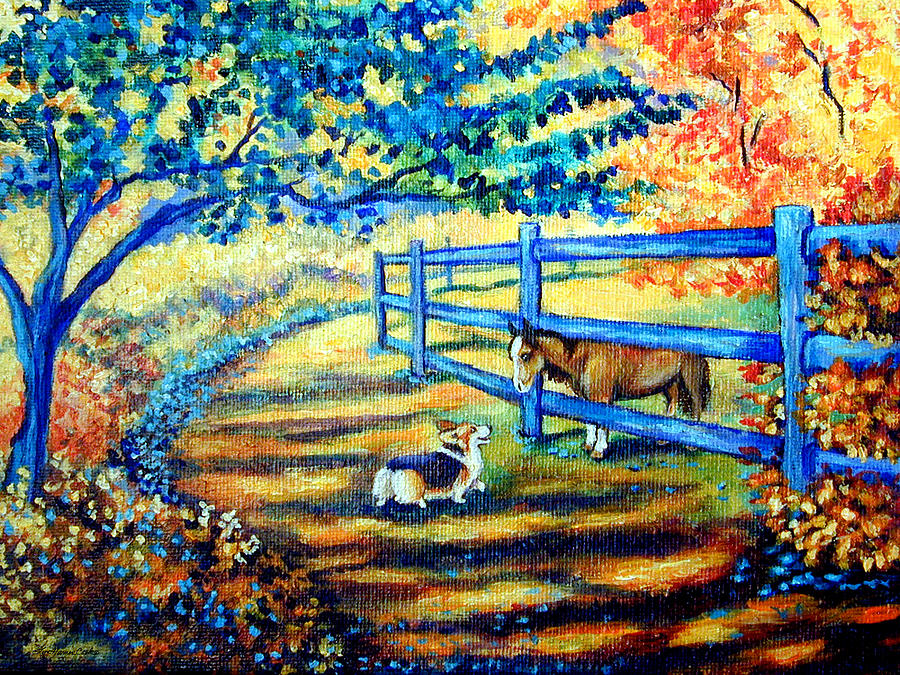 Good day greetings pembroke welsh corgi painting by lyn cook pembroke welsh corgi painting good day greetings pembroke welsh corgi by lyn cook m4hsunfo Images