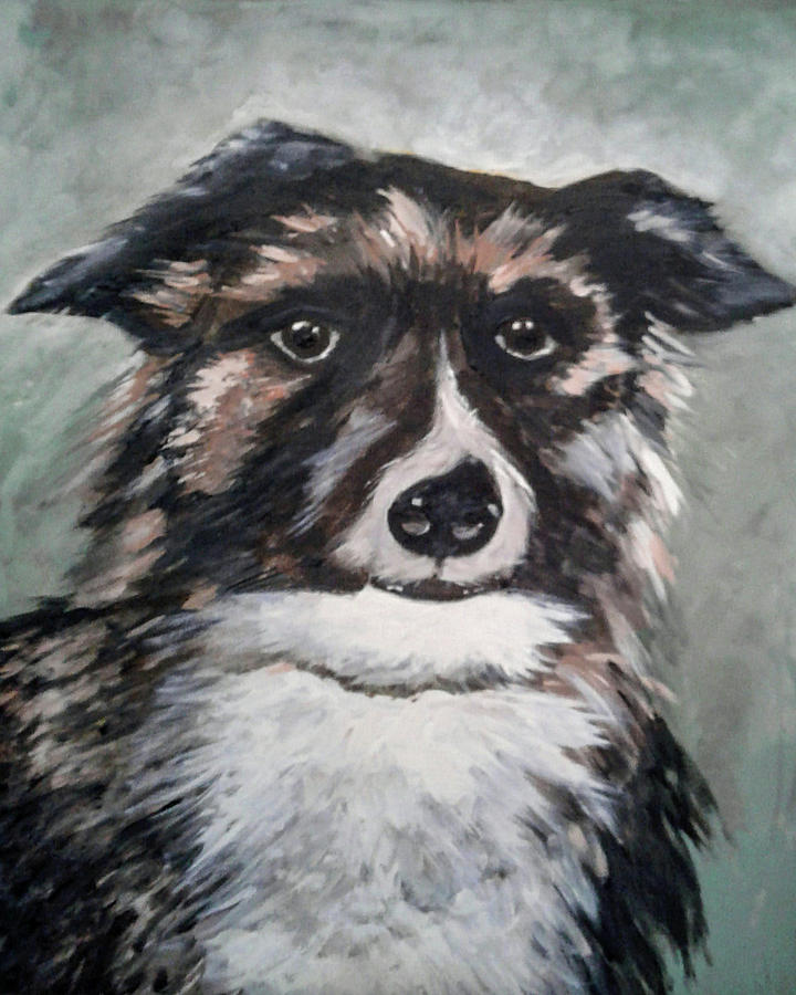 Painting Painting - Good Dog By Christine Lites by Allen Sheffield
