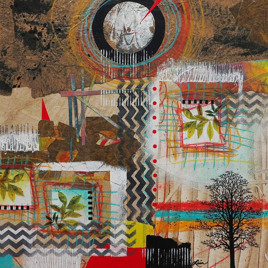Collage Mixed Media - Good Energy  by Laura Lein-Svencner