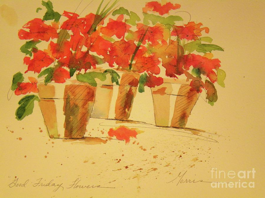 Flowers Mixed Media - Good Friday Flowers by Jill Morris