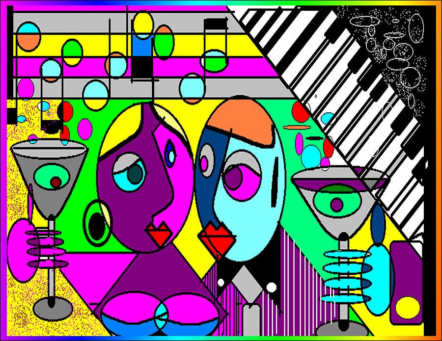 Music Digital Art - Good Friends by George Pasini
